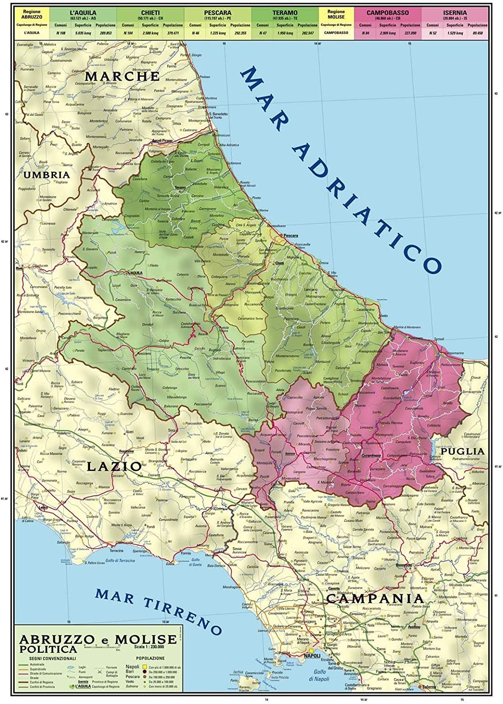 Cartina Regione Molise.Carta Geografica Murale Regionale Abruzzo Molise 100x140 Bifacciale Fisica E Politica Amazon It Cancelleria E Prodotti Per Ufficio