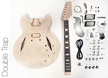 DIY Kit de guitarra eléctrica? Semi hueca diamond construir su propio Kit de guitarra: Amazon.es: Instrumentos musicales