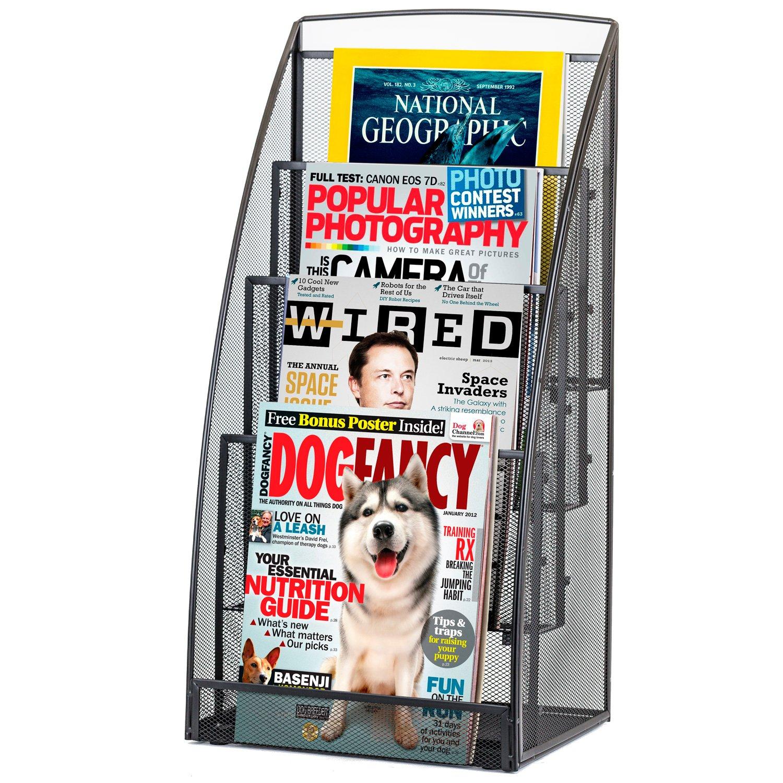 halter steel mesh magazine rack literature rack 4