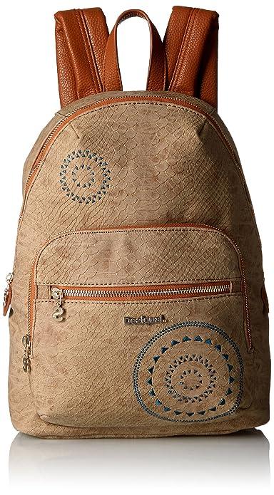 Mochila Lima Calypso de Desigual Talla  U Color  CAMEL  Amazon.es  Zapatos  y complementos 78ee82b1efbbd