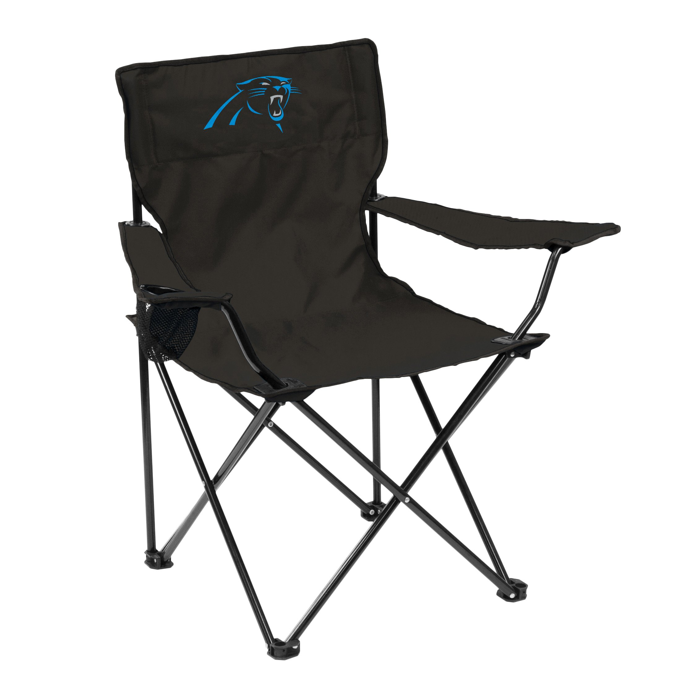 Logo Brands NFL Carolina Panthers Quad Chair Quad Chair, Charcoal, One Size