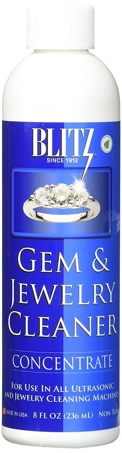 Gem & Jewelry Cleaner Concentrate (8 Oz) Blitz Manufacturing 651