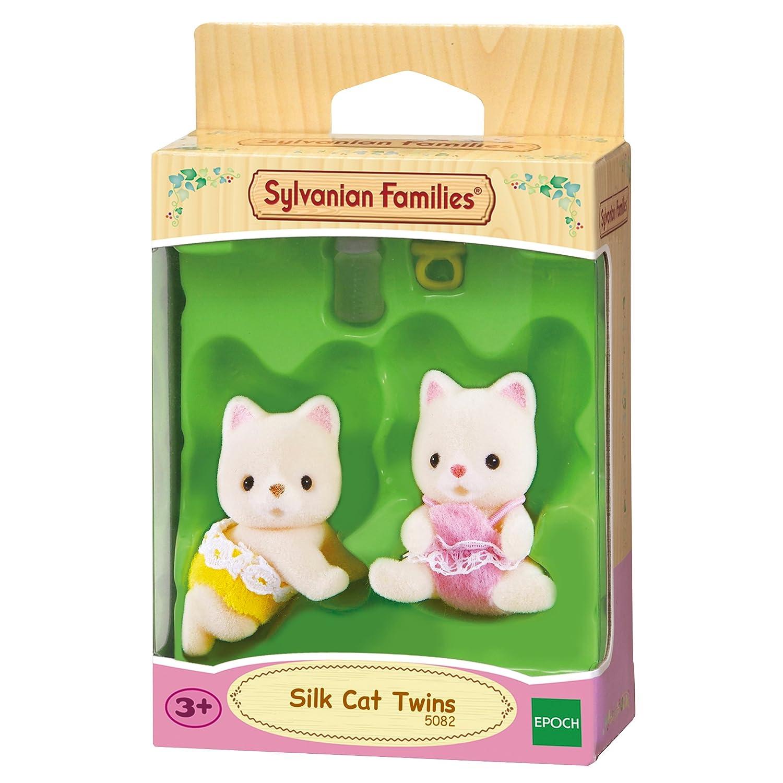 SYLVANIAN FAMILIES- Silk Cat Twins Mini muñecas y Accesorios, (Epoch para Imaginar 5082)