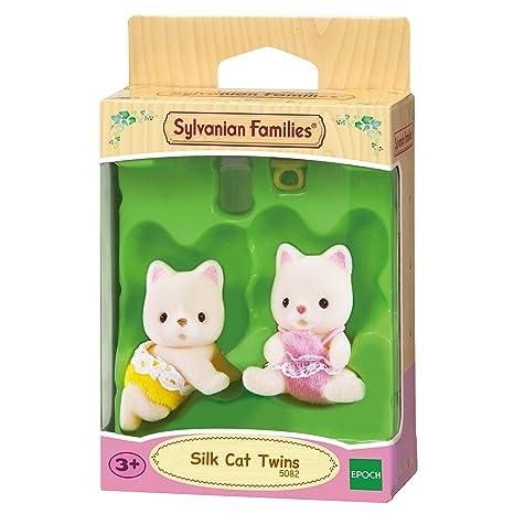 SYLVANIAN FAMILIES Silk Cat Twins Mini muñecas y Accesorios Epoch para Imaginar 5082
