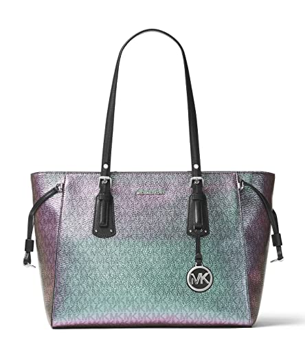 73c45518a148 MICHAEL Michael Kors Voyager Medium Multifunction Top-Zip Tote  Amazon.in   Shoes   Handbags