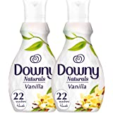 Downy Naturals Concentrate Fabric Softener Vanilla Scent Dual Pack, 2 x 880 ml