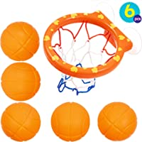 Juguetes de 5 Balones y Red de Baloncesto