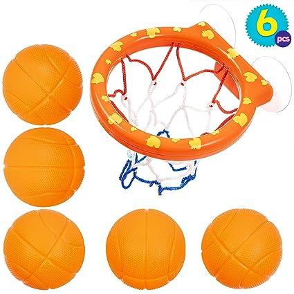 Juguetes de 5 Balones y Red de Baloncesto para el Baño | Juguete ...