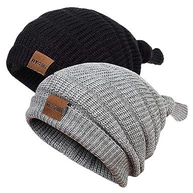Amazon.com  RYOMI Baby Boy Beanie Hat Winter Warm Lamb Cashmere ... 27aef92c4c8