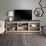 Walker Edison Wren Classic 6 Cubby TV Stand for TVs up to 80 Inches, 70 Inch, Driftwood