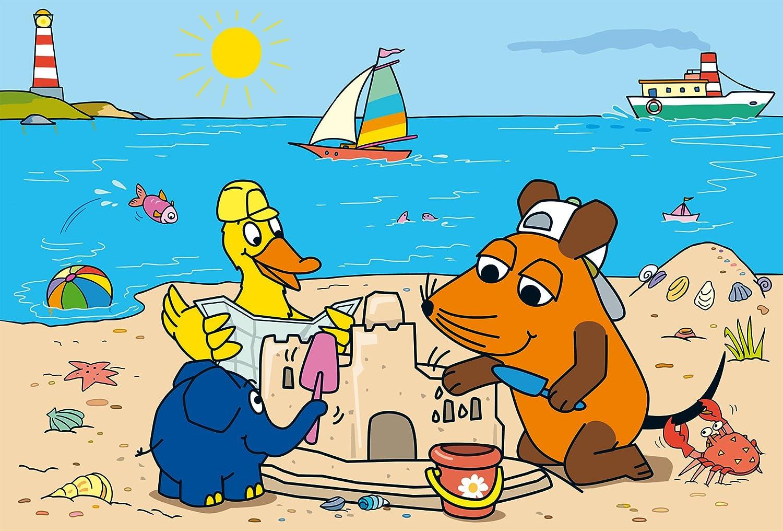 Schmidt Spiele Mouse TV Puzzle 56212 3x24 Teile blau Gute Freunde