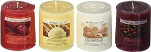 Luminessence Assorted Scented Pillar Candles, 4 Pillar Candles - Vanilla - Black Cherry - Apple Cinnamon - Fresh Linen