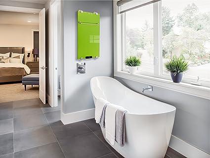 Calefacción por infrarrojos baño Calefacción IBP 550 Incluye toallero & Termostato Con Mando A Distancia Diseño