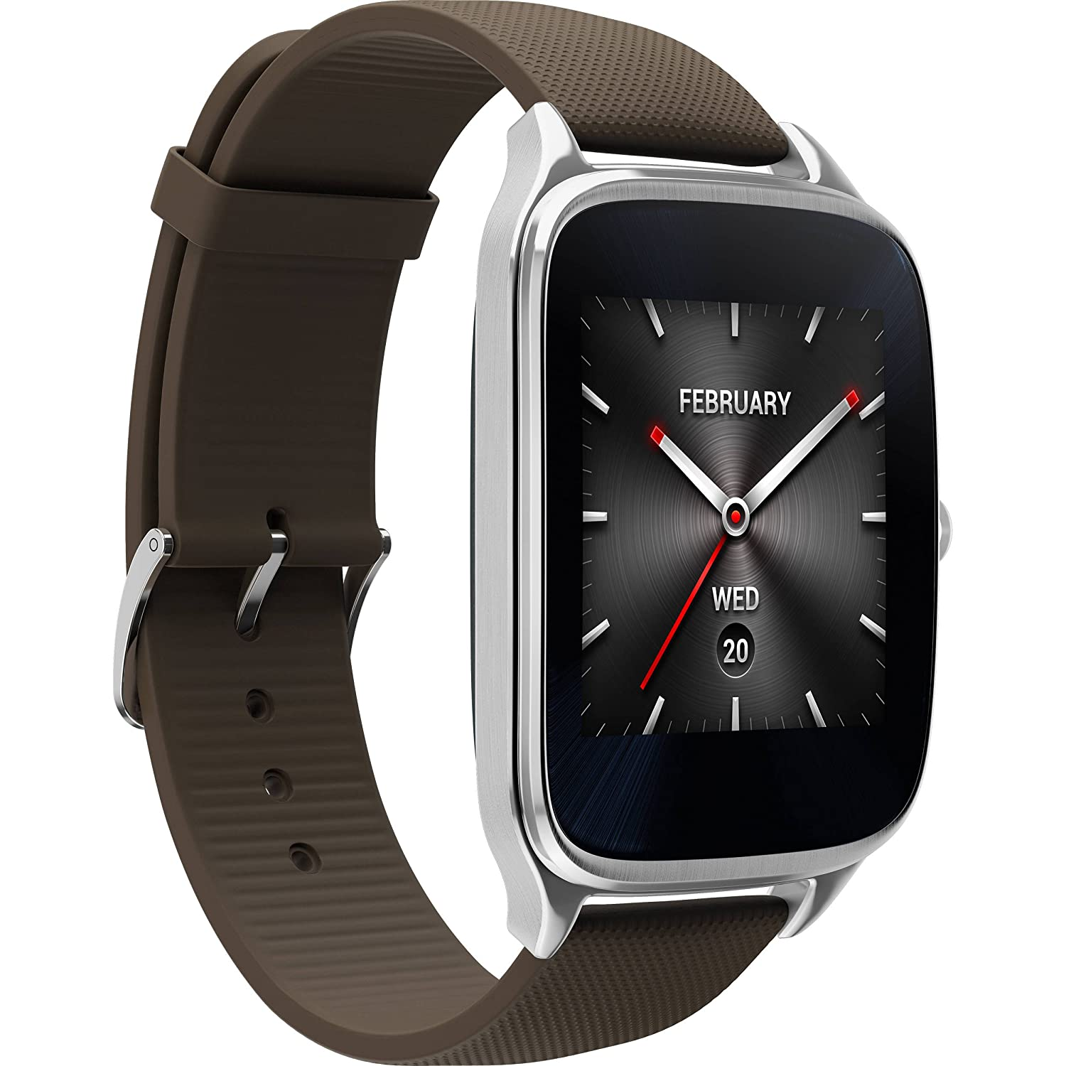 The ASUS ZenWatch 2, Affordable, Attractive, Brown, Time
