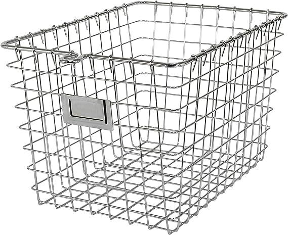 Chrome Wire Mini Shopping Basket