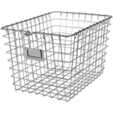 Spectrum Diversified 47870 Storage Basket, Small, Chrome