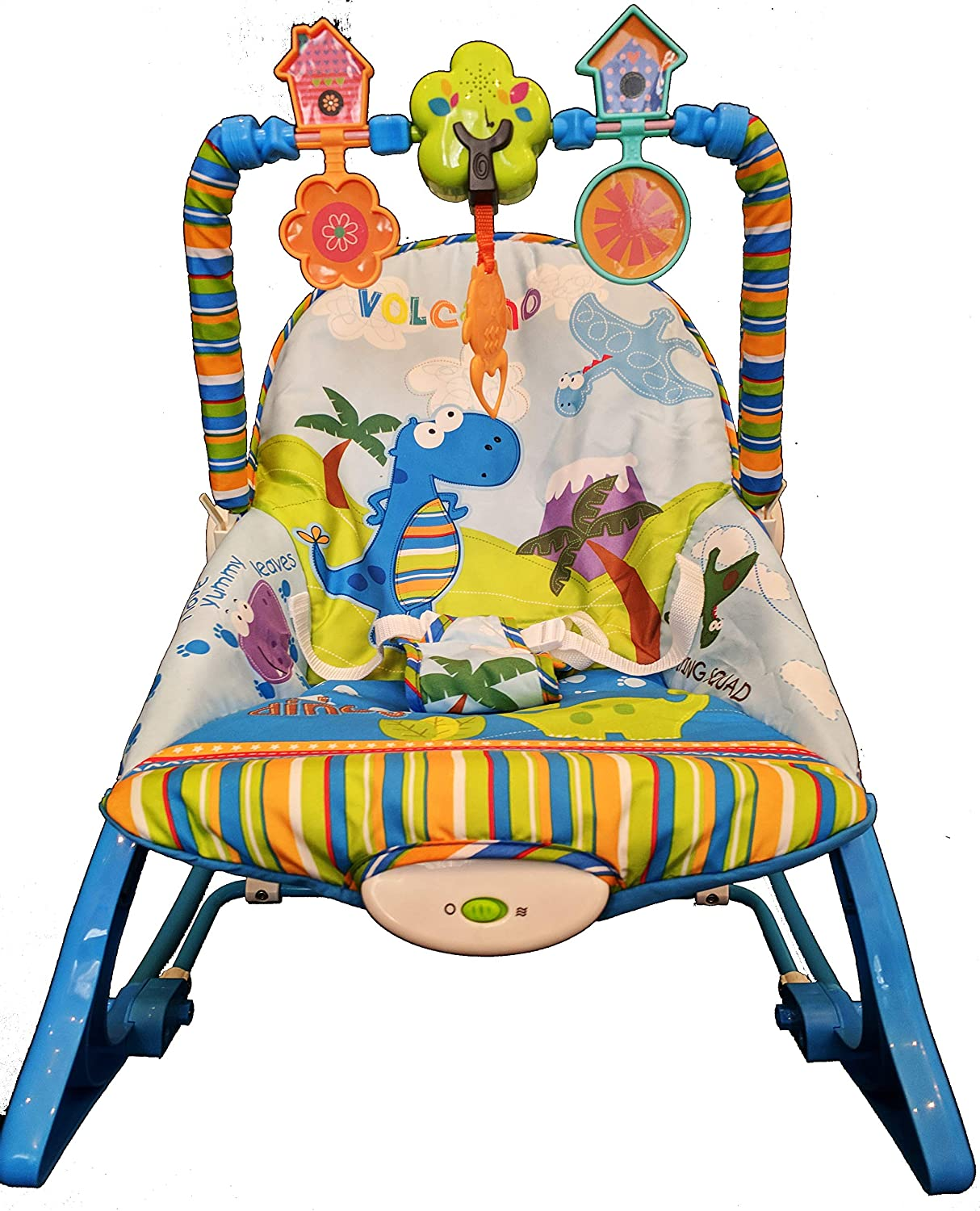Baby Rocker Bouncer Baby Chair Smooth Vibrations with Music in Pink /& Blue Blue