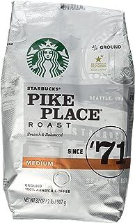 Pikes Peak Coffee >> Amazon Com Starbucks Medium Pike Place Roast Coffee Ground 12 Oz