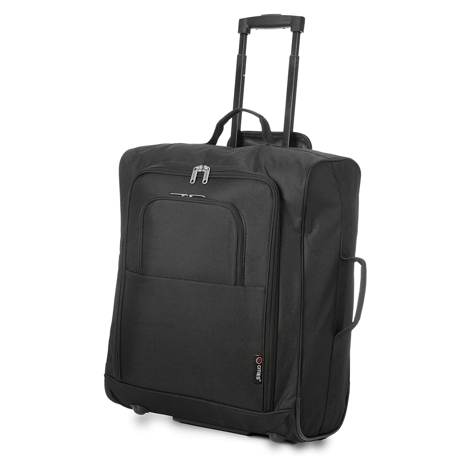 723983700 5 Cities Easyjet, British Airways, Jet2 56X45X25Cm Maximum Cabin Approved Trolley  Bag Hand Luggage, 56 cm, 60.0 L, Black