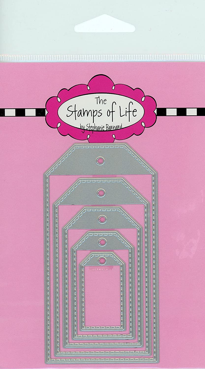 The Stamps of Life Stitched Tags Christmas Die Cuts for Card Making and Scrapbooking Supplies by Stephanie Barnard - Gift Tags and Labels