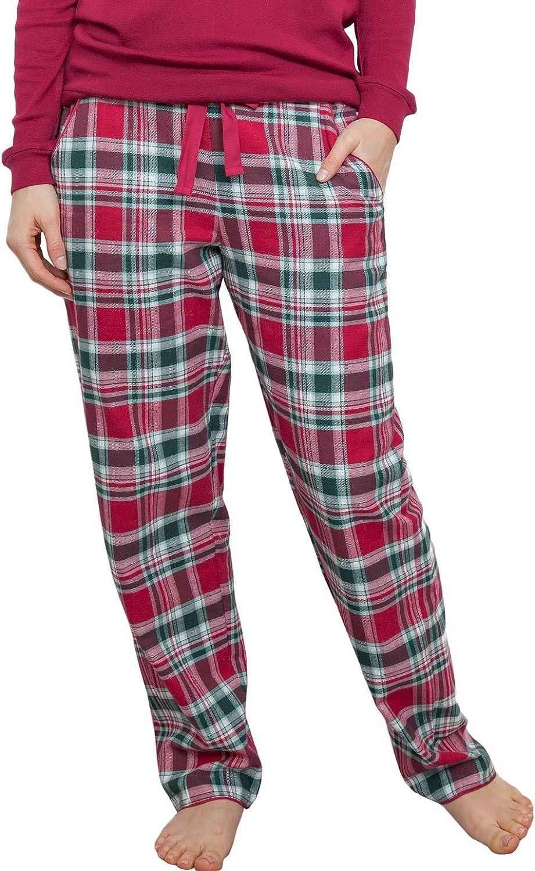 Cyberjammies 3855 Women's Holly Red Check Pajama Pyjama Pant