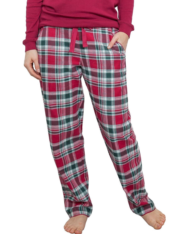 TALLA 34. Cyberjammies 3855 Women's Holly Red Check Pajama Pyjama Pant