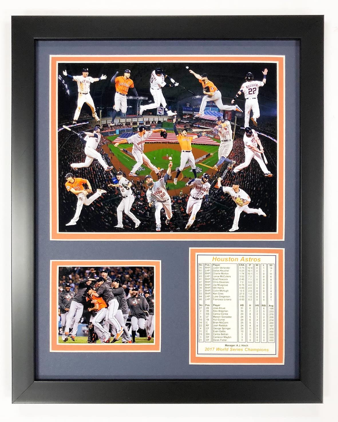 Legends Never Die 2017 MLB Houston Astros World Series Champions Framed Photo Collage Collage 12 x 15