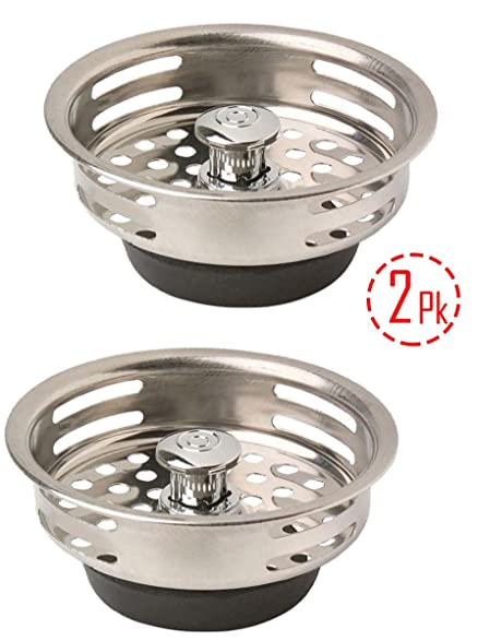 Amazon.com: Stainless Steel Kitchen Sink / Basket Strainer with ...