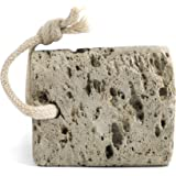 Pumice Stone for Foot Callus - Professional Grade Exfoliation for Hands, Soles, & Toes - Naturally Occurring Volcanic Rock - Eco Friendly & Non-Toxic (Square)