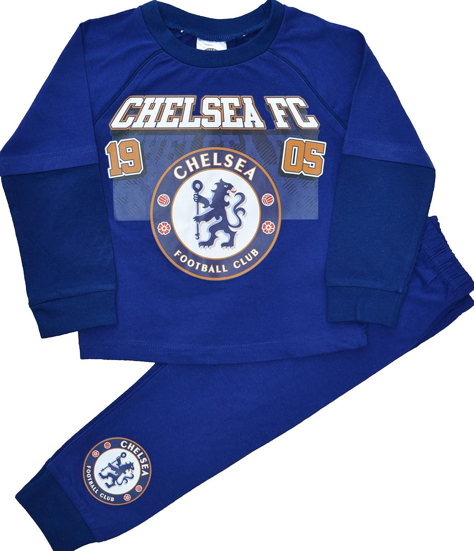 Kids Boys Chelsea FC Football Pyjamas Size 2-3 Years