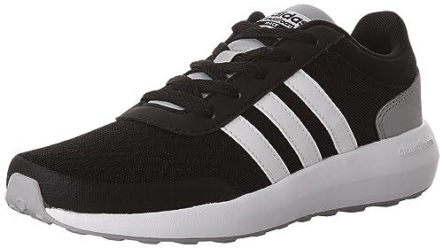 Buy adidas neo Boys' Cloudfoam Race K Fashion-Sneakers, Black ...