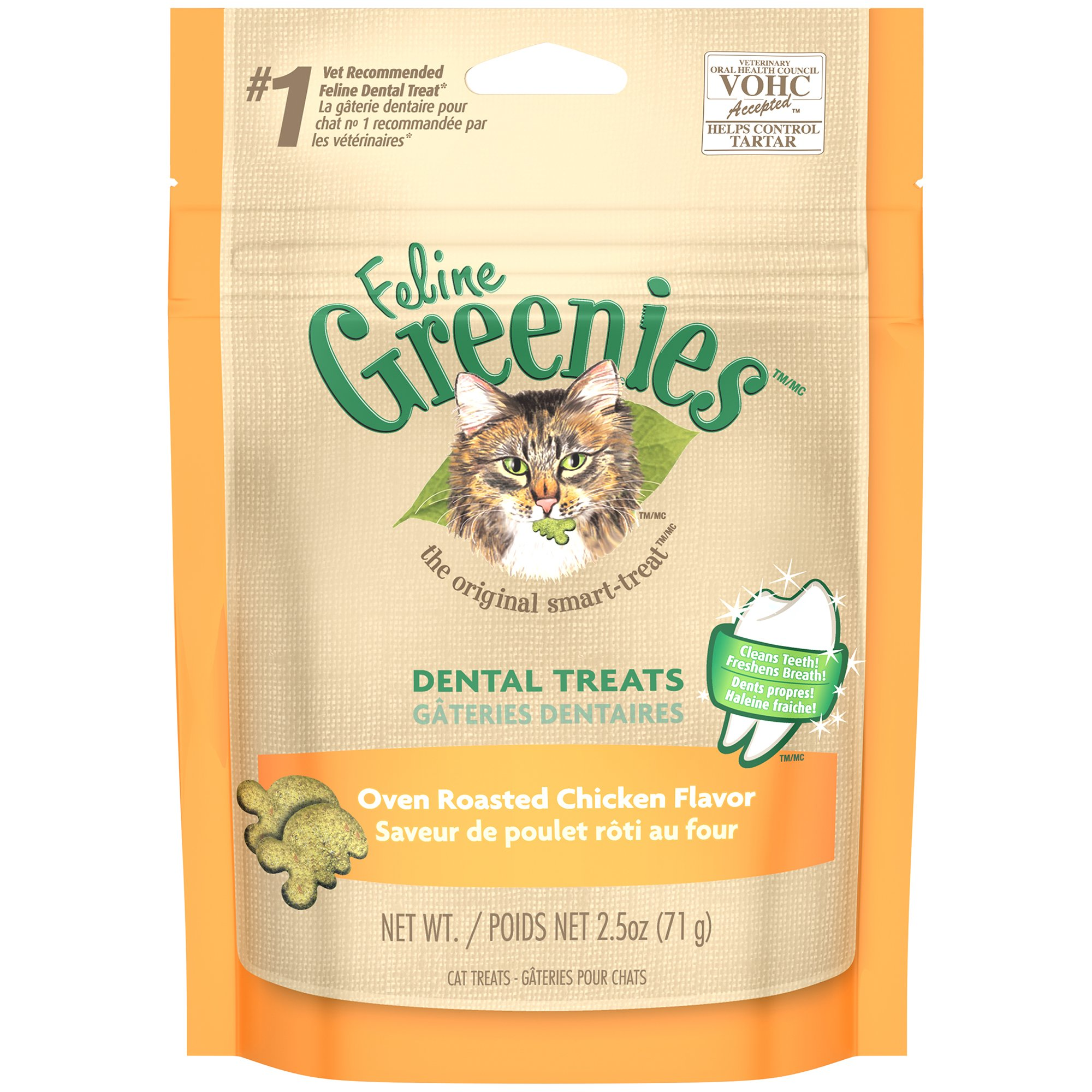 Feline GREENIES Dental Cat Treats Chicken 2.5 oz