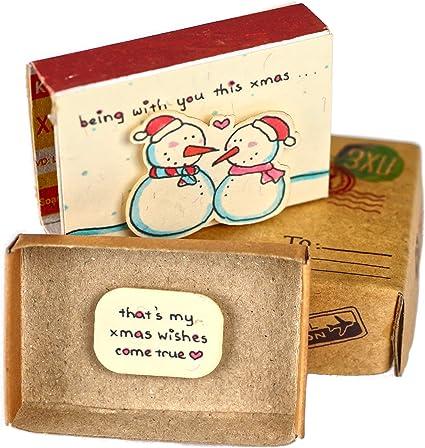 Immi - Caja de cerillas (3 unidades, tamaño pequeño), color Navidad – Junto con ti.: Amazon.es: Oficina y papelería