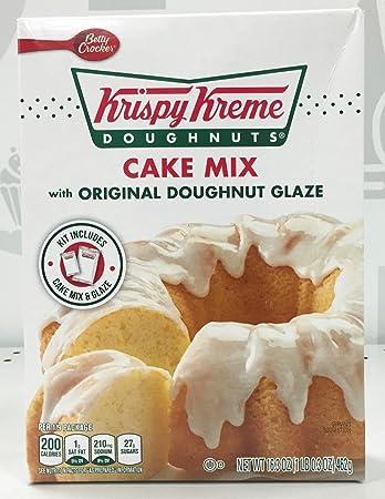 Krispy Kreme Doughnuts Cake Mix with Original Doughnut Glaze Amazon