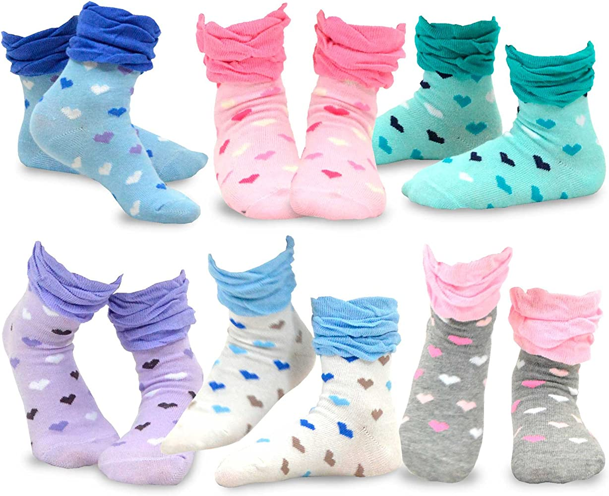 Roll Top Socks Age 12-24 months 4 pairs of Baby Girls Socks