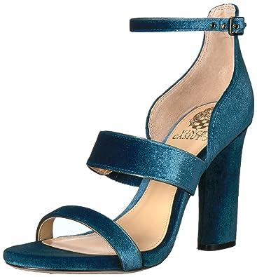 Vince Camuto Women's Robeka Heeled Sandal, Peacock/Titanium, 10 Medium US