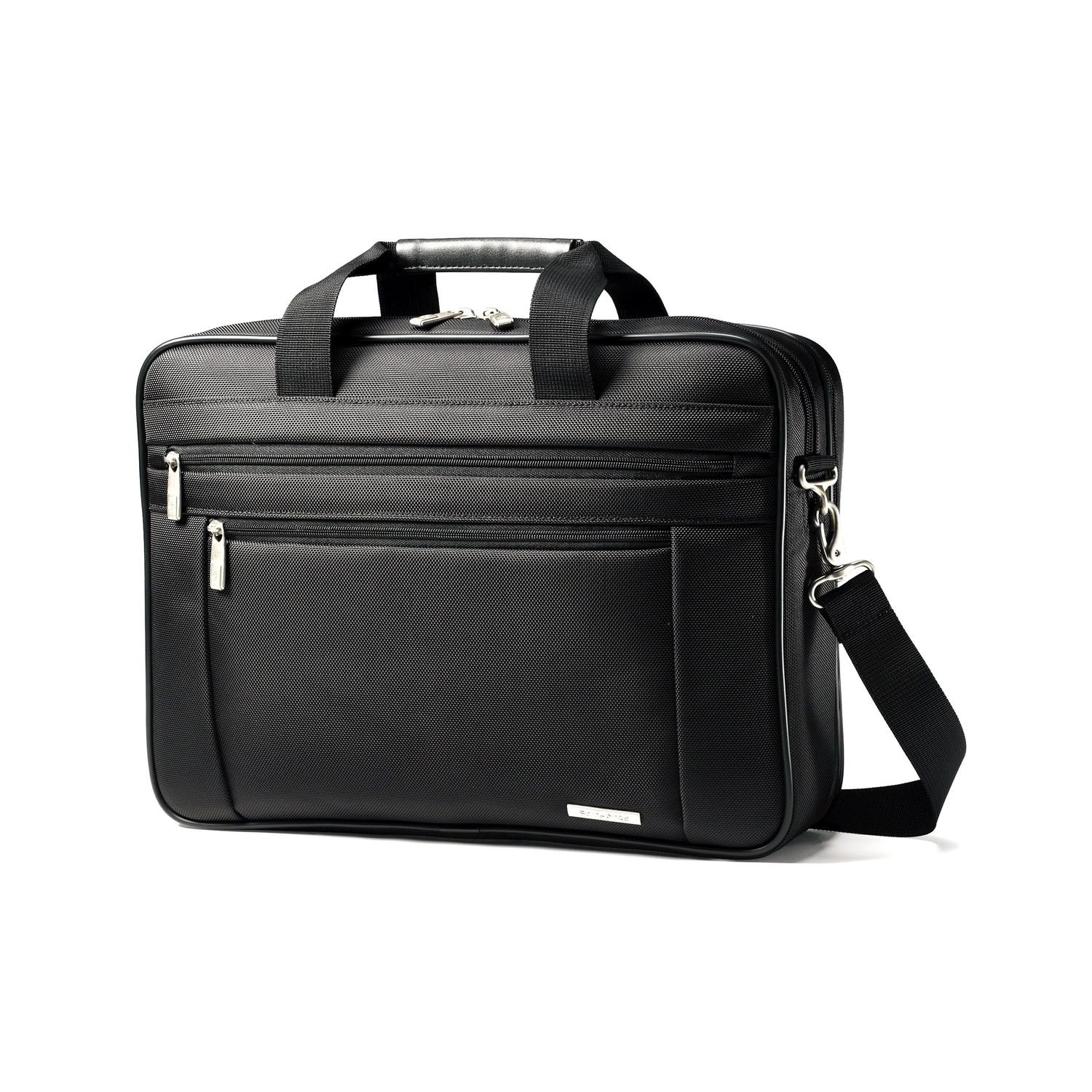 Samsonite Classic Business Perfect Fit 15.6'' Two Gusset Laptop Bag in Black