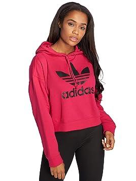1576f83410 Hoodie Crop Femme Adidas LEOFLAGE: Amazon.fr: Sports et Loisirs