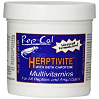 Rep-Cal SRP00300 Herptivite Multivitamin and Mineral Powder Reptile/Amphibian Supplement, 3.3-Ounce