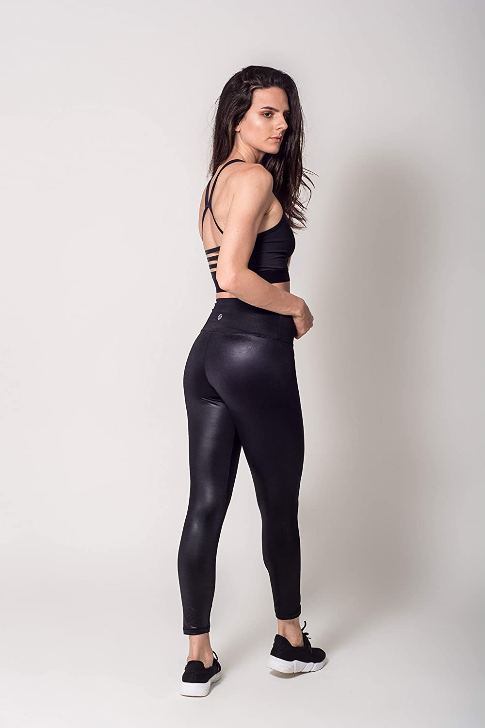 Activefit Lux Fashion Stretch High Waisted Workout Yoga Pants Black Leggings for Women