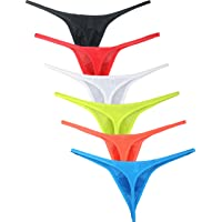 iKingsky Men's Pouch G-String Underwear Big Package Y-Back Panties Breathable Bulge Thong