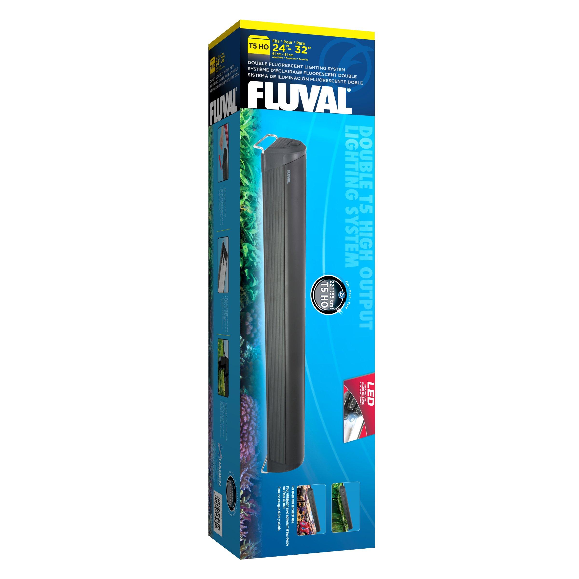Fluval T5 Double Lamp Aquarium Fixture, 24-Inch