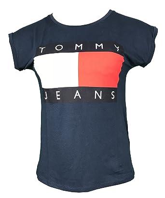 a51fa9c9819586 Tommy Hilfiger - Damen T-Shirt Gr. S, Marineblau: Amazon.de: Bekleidung