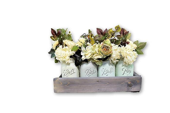amazon com sage farmhouse pint mason jar floral arrangement planter rh amazon com centerpiece flower arrangements ideas centerpiece flower arrangements