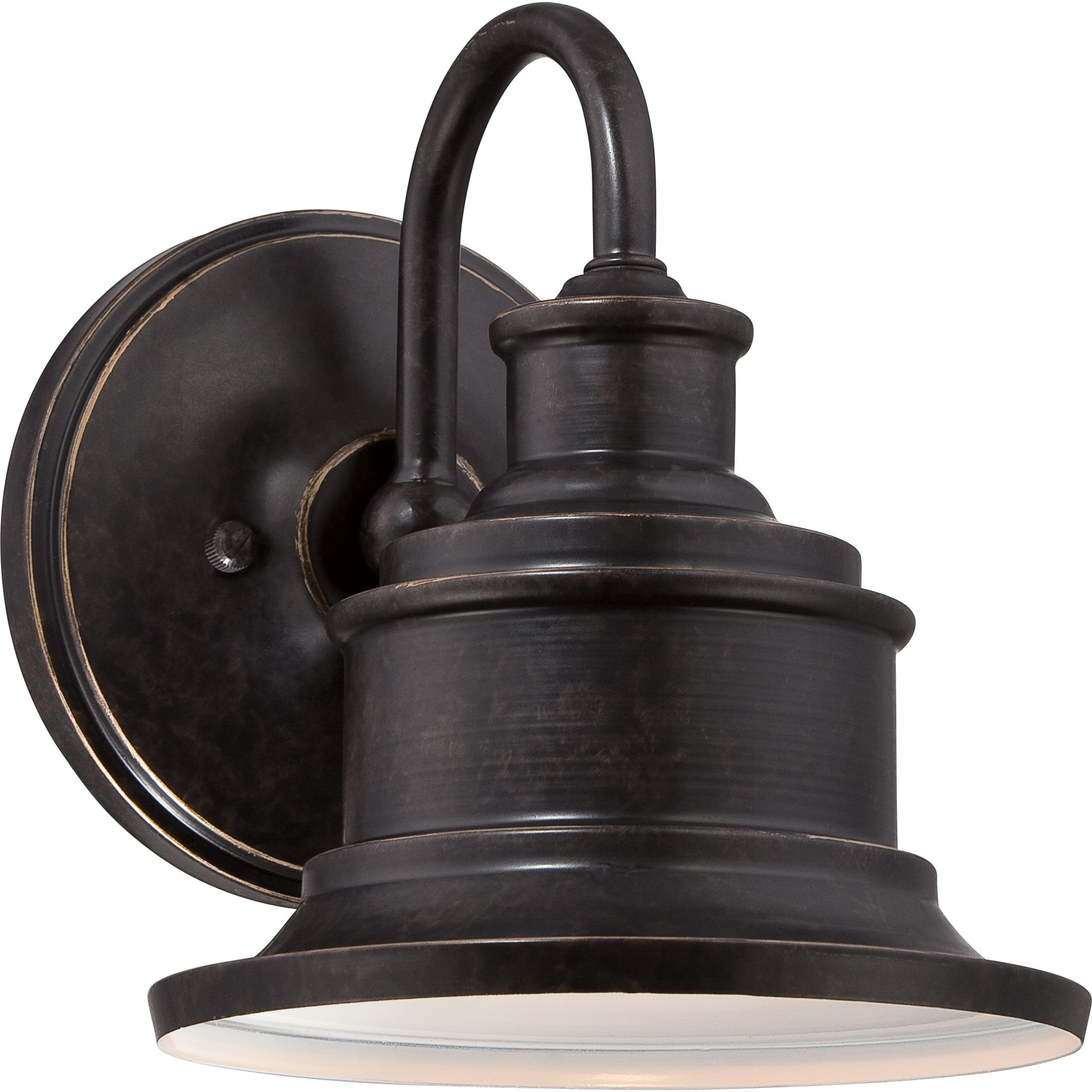 Quoizel SFD8407IB Seaford with Imperial Bronze Finish and  Small Wall Lantern,  Brown