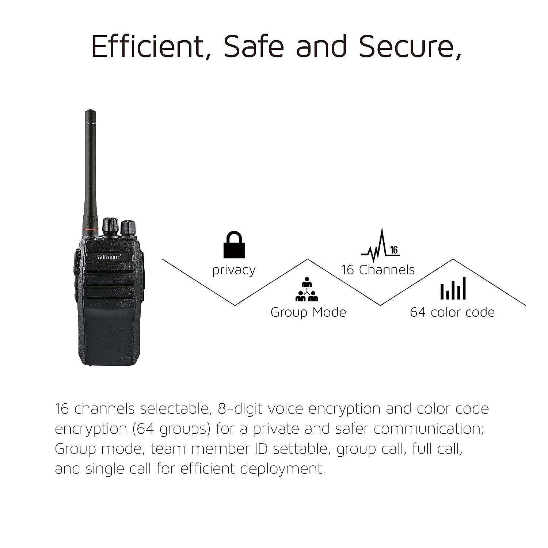 Sainsonic Fm 416s Dpmr Digital Two Way Radio Uhf 400 Voice Scrambler Disguiser Circuit Diagram 470mhz 16ch 2w Walkie Talkie Handheld Transceiver With Narrowband Tech