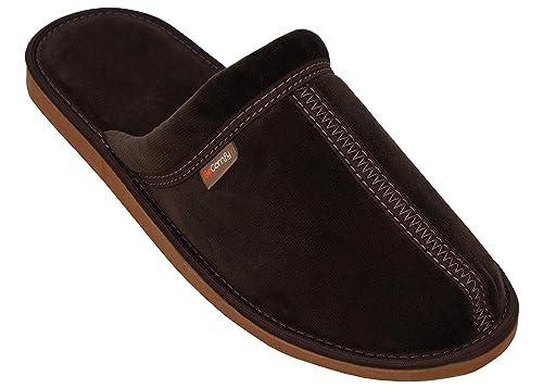 2c948df23a BeComfy Pantofole da Uomo di Cotone Ciabatte da Casa Leggere Marrone ...