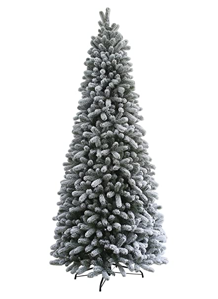 "KING OF CHRISTMAS 7.5 Foot King Flock Slim Christmas Tree Unlit, 40""  ... - Amazon.com: KING OF CHRISTMAS 7.5 Foot King Flock Slim Christmas"