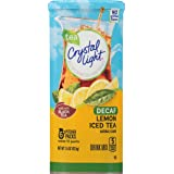 Crystal Light Drink Mix, Decaf Lemon Iced Tea, Pitcher Packets, 6 Count (Pack of 12 Canisters)-Packaging may vary