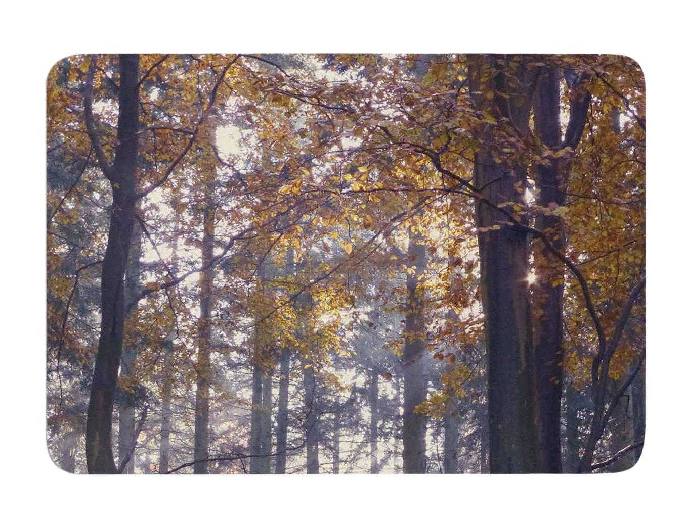 17 X 24 17 by 24-Inch Kess InHouse Alison Coxon Autumn Sunbeams Trees Photography Memory Foam Bath Mat